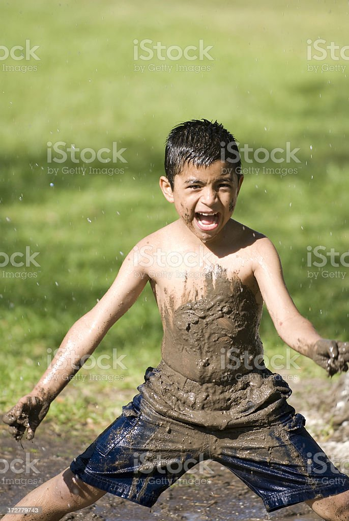 Child refreshing in summer royalty-free stock photo