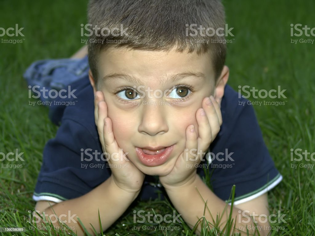Child Relaxing royalty-free stock photo