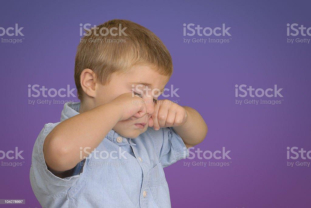 Child Rubbing His Eyes royalty-free stock photo