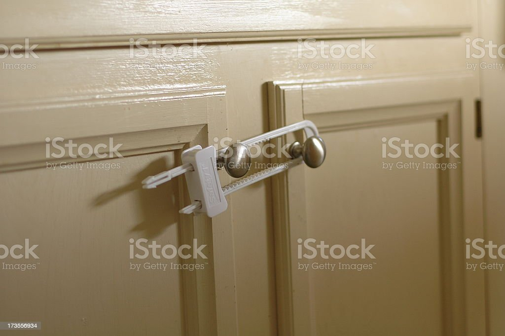 Child Safety Cabinet stock photo