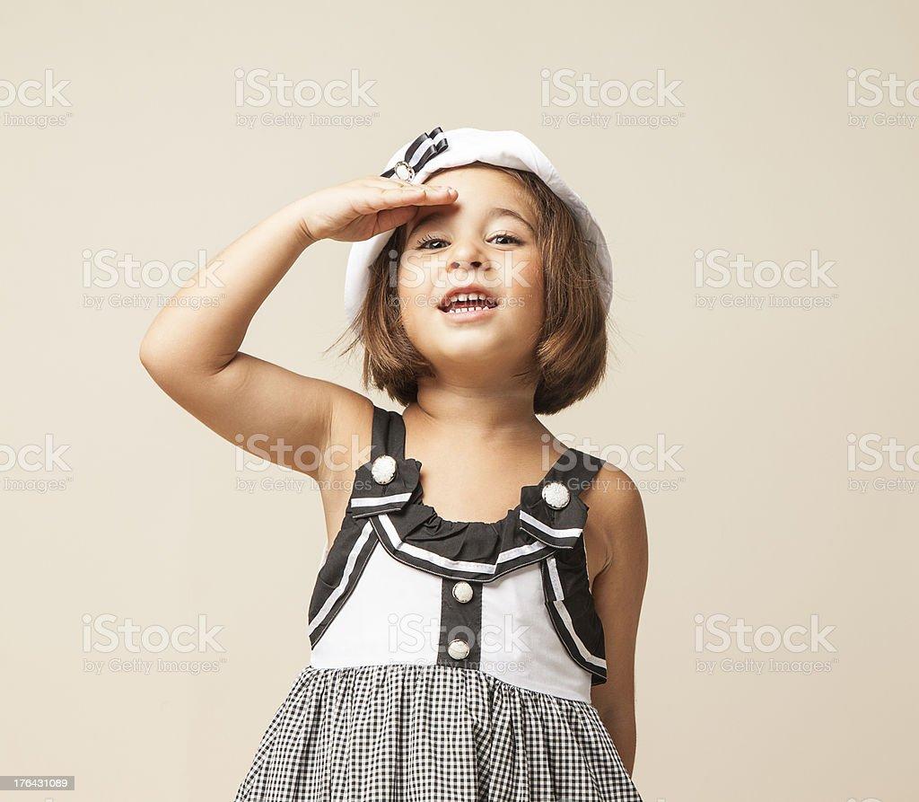 Child sailor stock photo