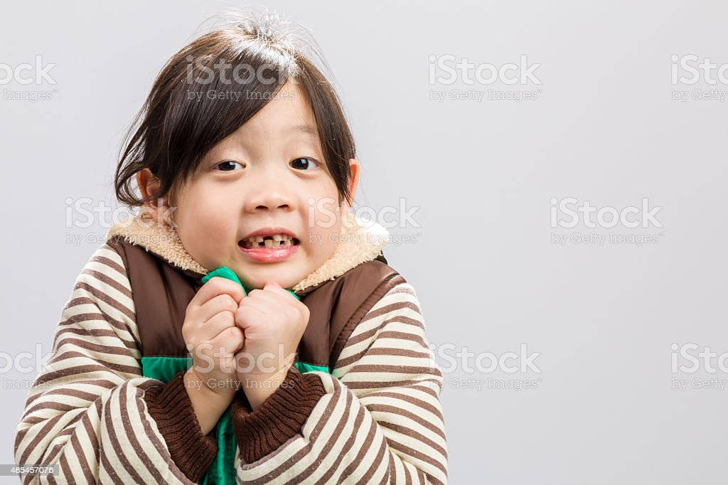 Child Shivering Background / Child Shivering stock photo