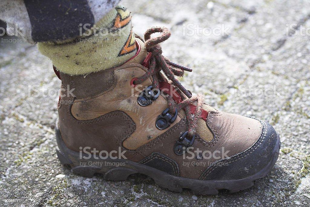 Child shoe stock photo