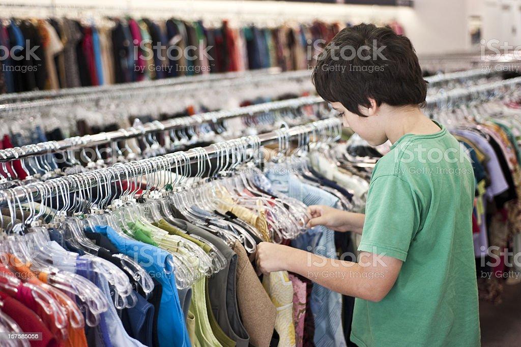 Child shopping royalty-free stock photo
