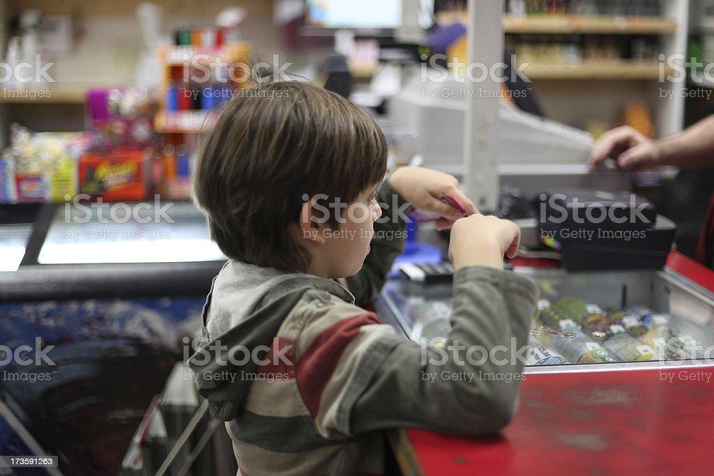 Child Shopping stock photo
