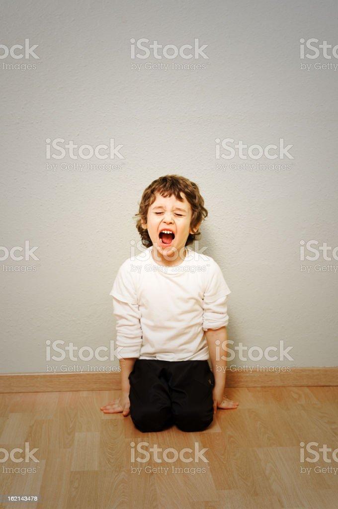 Child shouting royalty-free stock photo