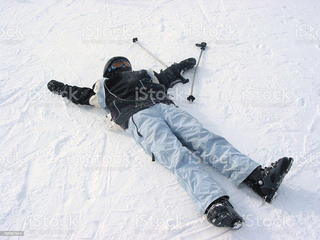Child ski winter royalty-free stock photo