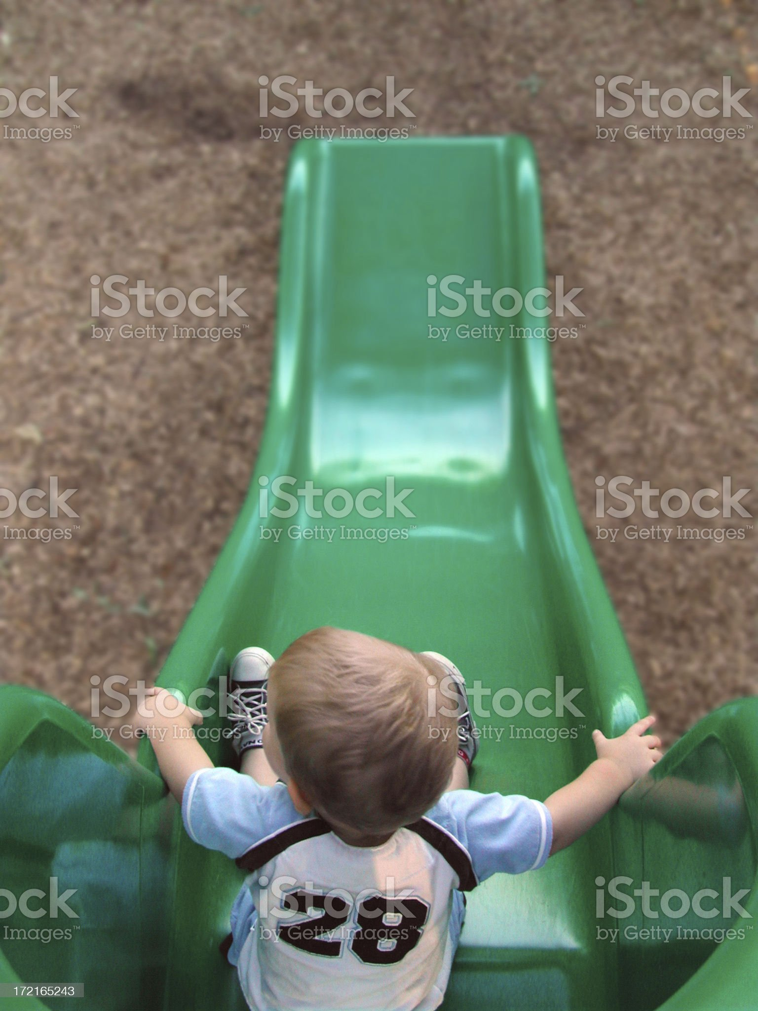 Child - Sliding Board royalty-free stock photo