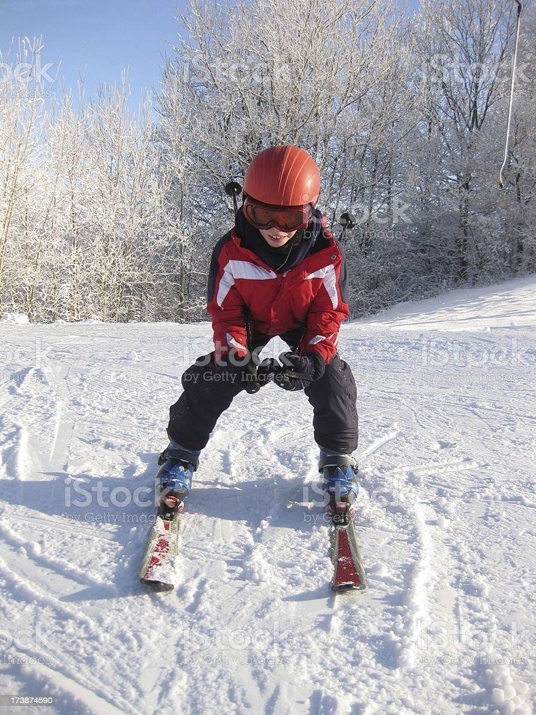 Child Snow Skiing royalty-free stock photo