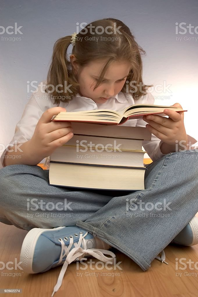 Child studying royalty-free stock photo