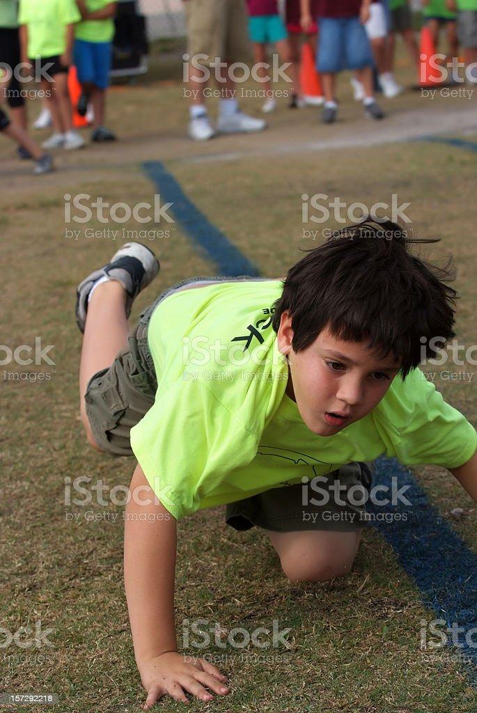 child stumbling royalty-free stock photo
