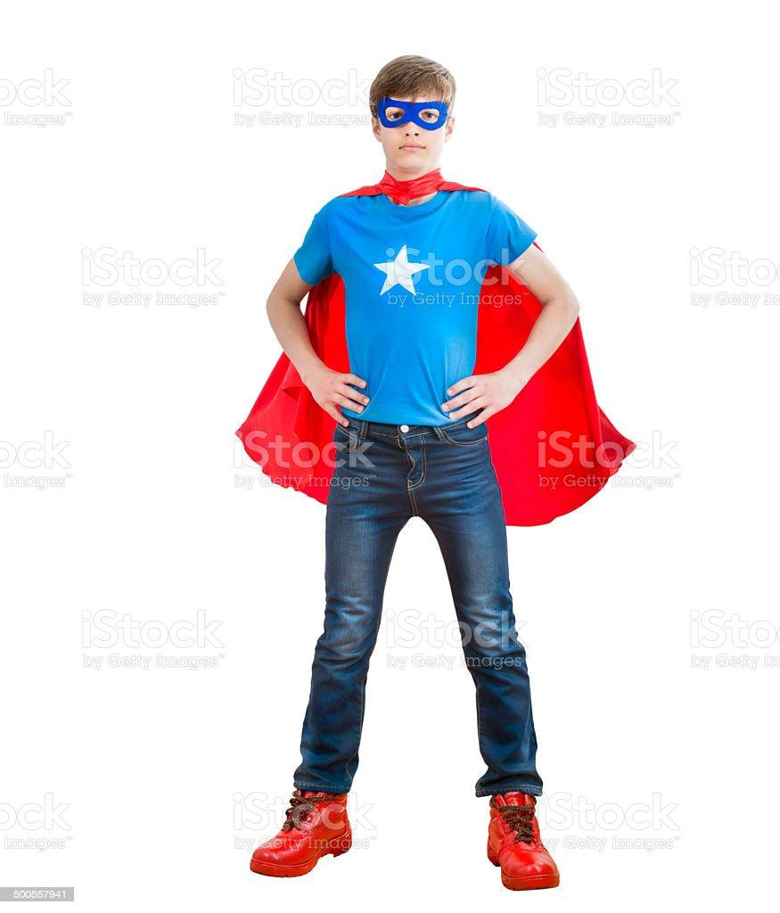child super hero stock photo