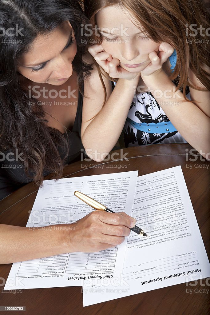 Child support forms royalty-free stock photo