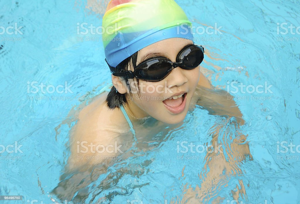 Child swimming royalty-free stock photo