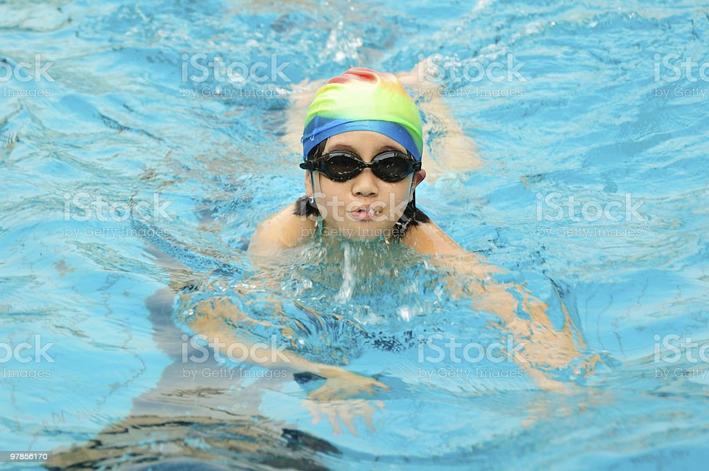 Child swimming royalty-free stock photo