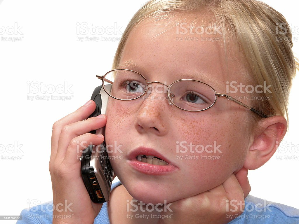 Child Talking on a Cellphone royalty-free stock photo