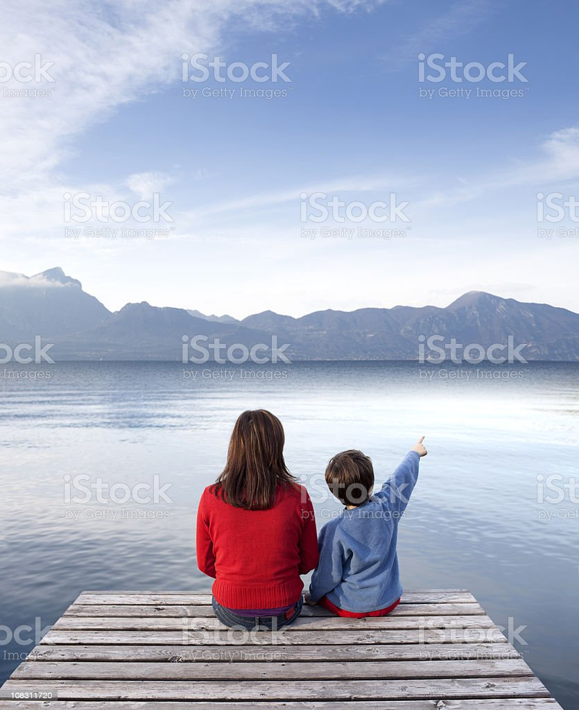 Child tells her mother royalty-free stock photo