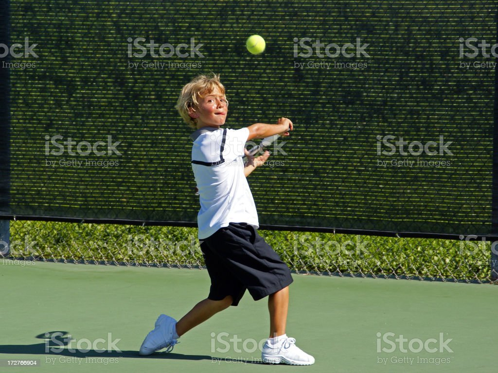 Child Tennis Player royalty-free stock photo