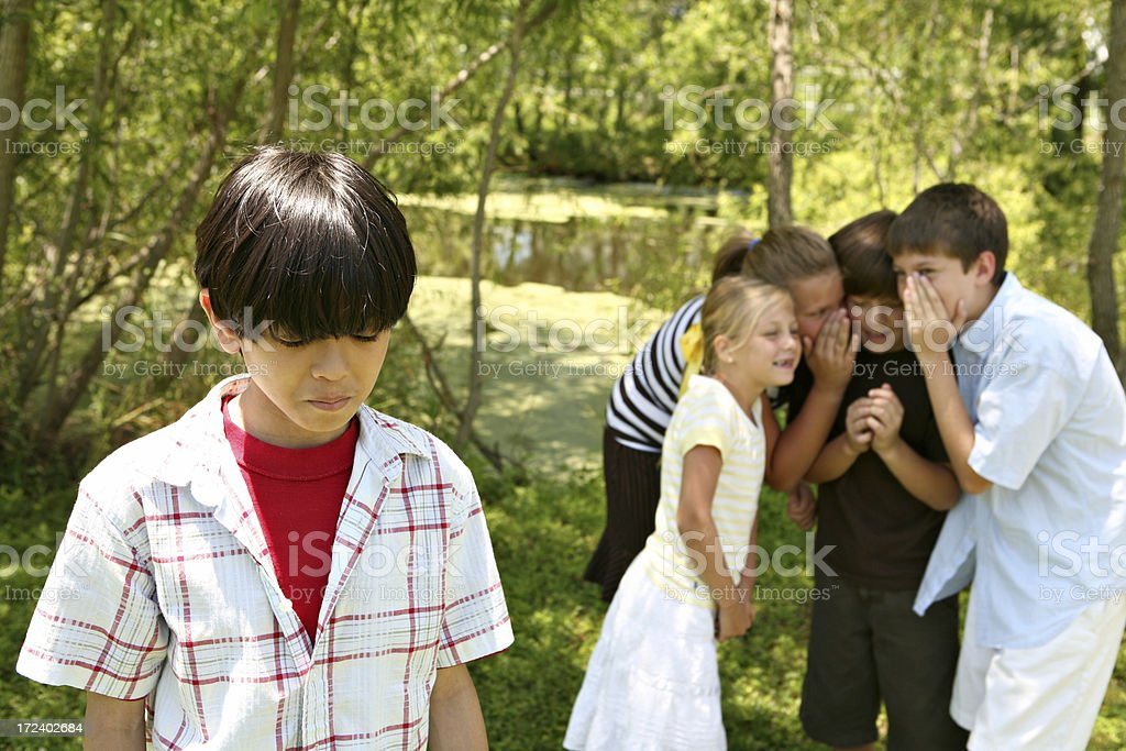A child that has been left out of a game royalty-free stock photo
