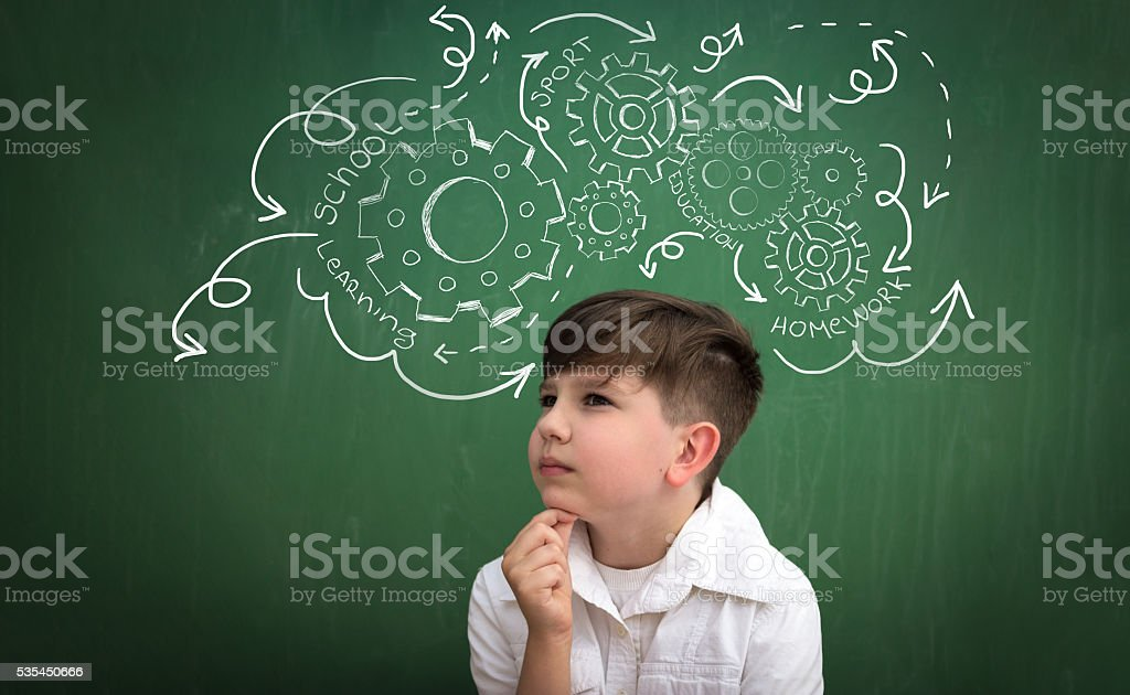 child too much obligations stock photo