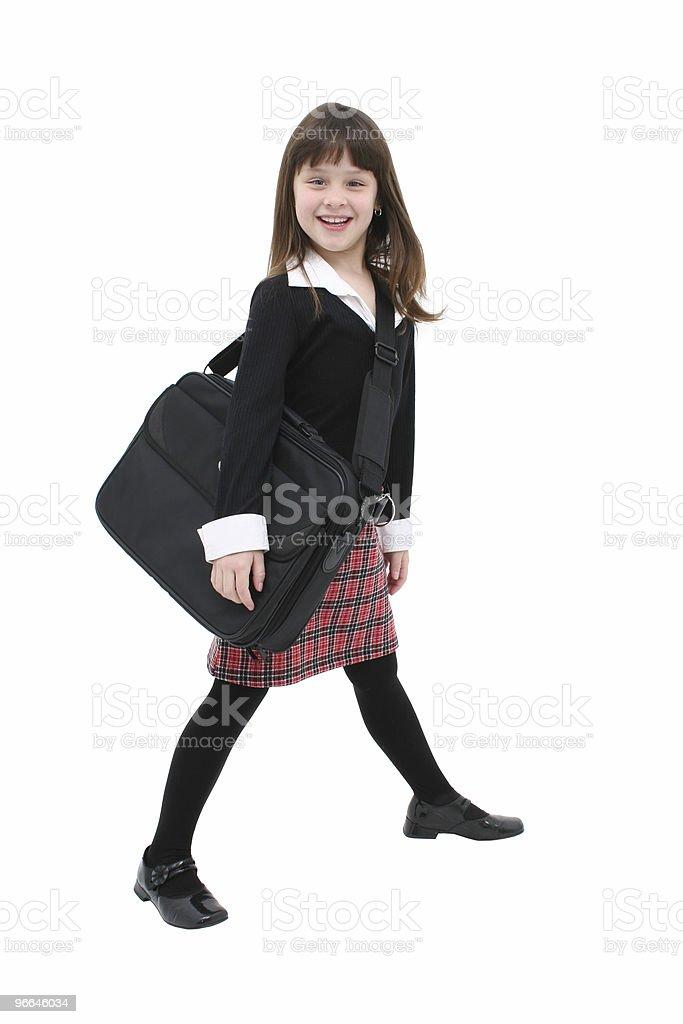 Child (girl) w/  Laptop Case royalty-free stock photo