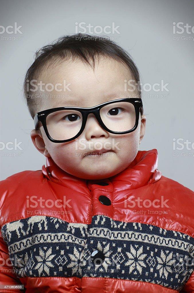Child Wearing Eyeglasses royalty-free stock photo