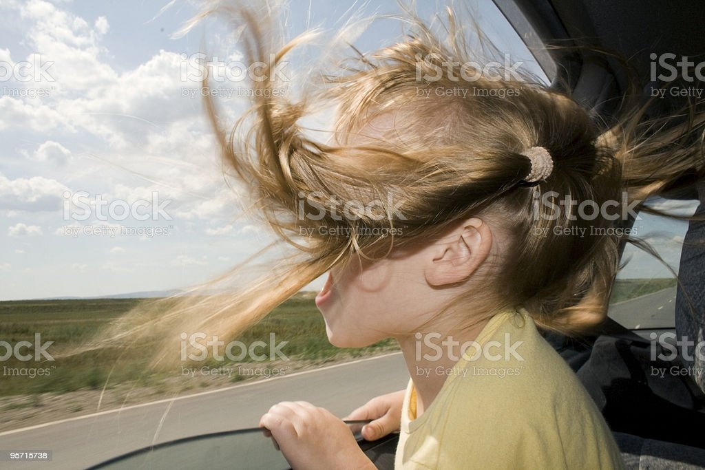 Child will go in the Car royalty-free stock photo