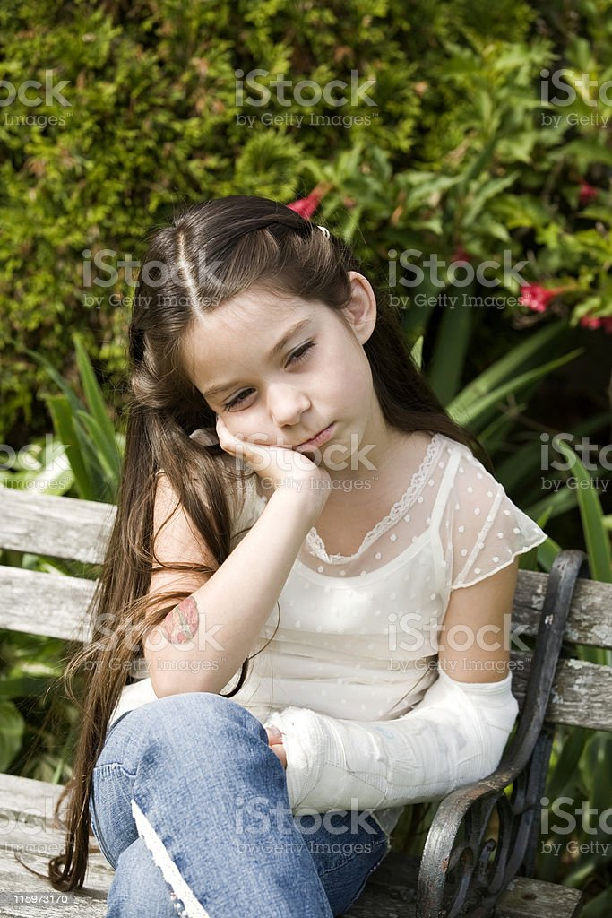 Child with a Broken Arm stock photo