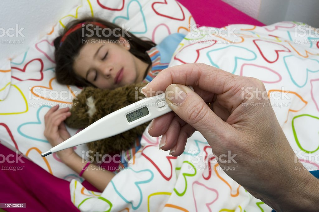 Child with a fever royalty-free stock photo