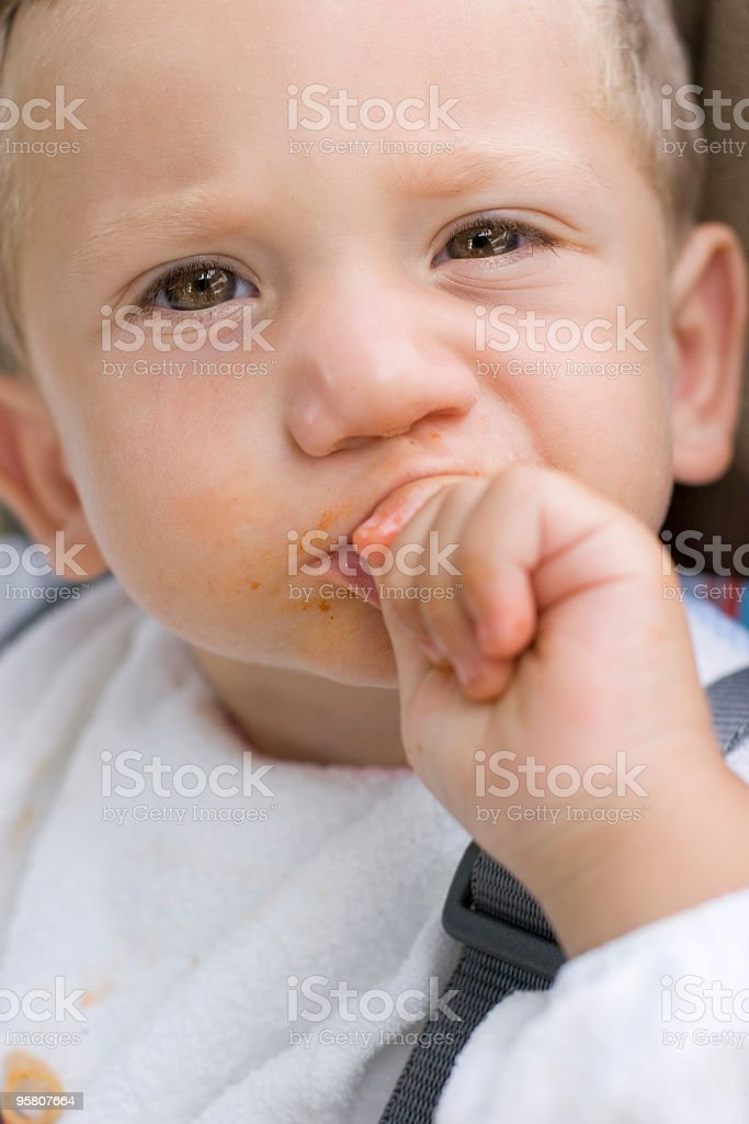 Child with a sharp look royalty-free stock photo