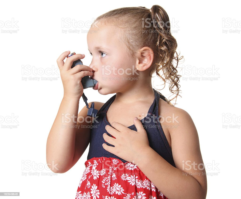 Child with Asthma royalty-free stock photo