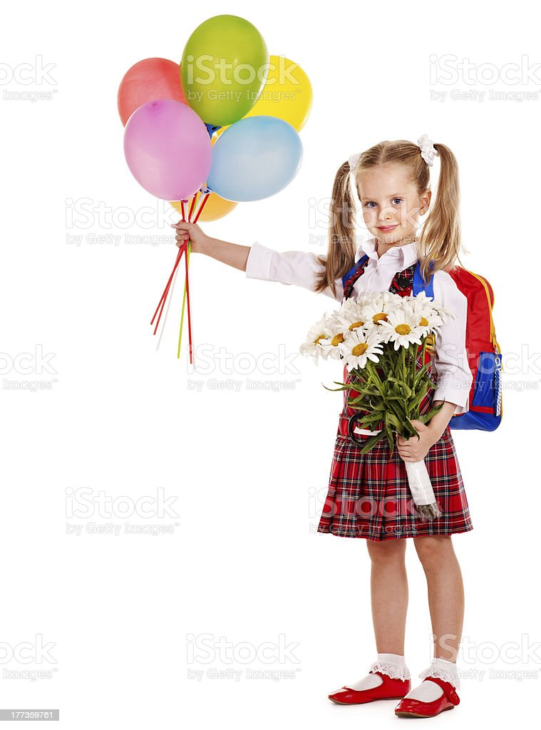 Child with backpack. royalty-free stock photo
