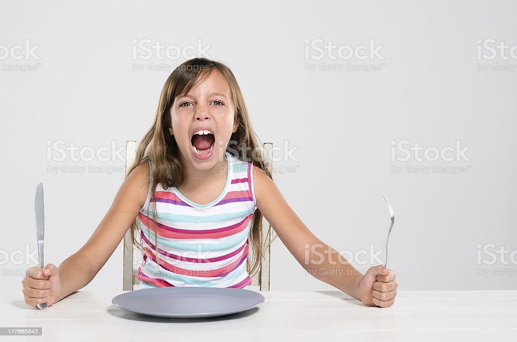Child with bad manners royalty-free stock photo
