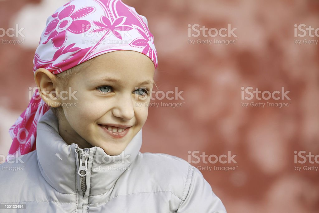 child with cancer stock photo