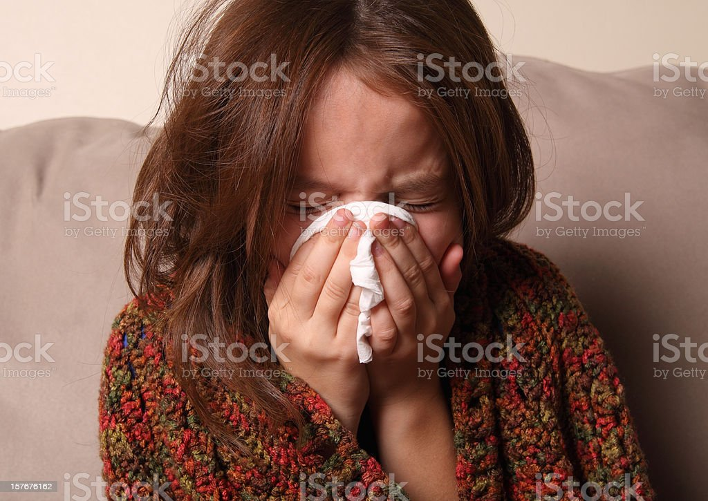 Child with Cold stock photo
