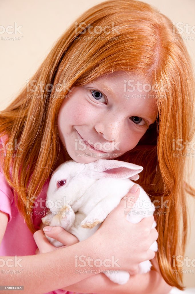 Child with Easter Bunny royalty-free stock photo