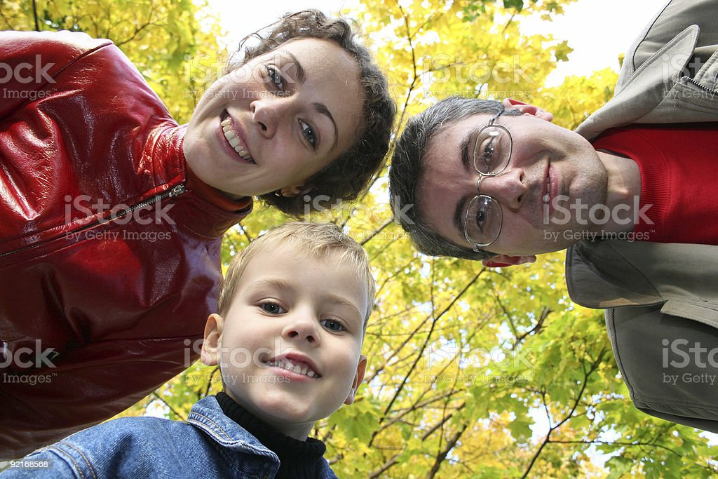 child with family from down royalty-free stock photo