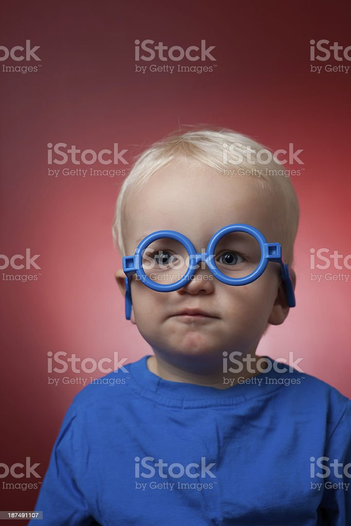 Child With Glasses royalty-free stock photo
