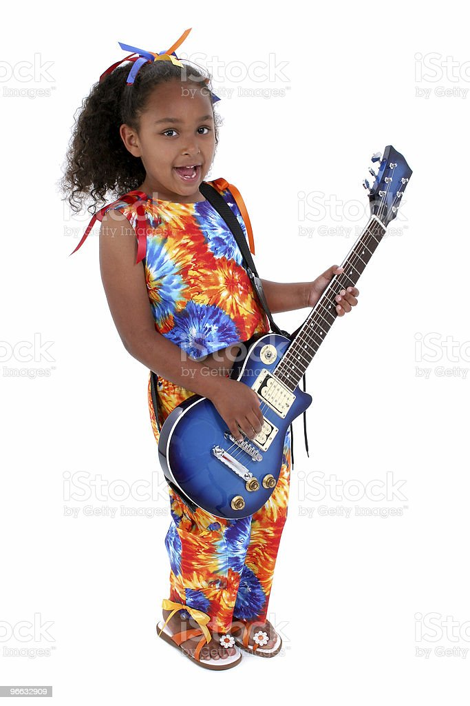 Child with Guitar royalty-free stock photo