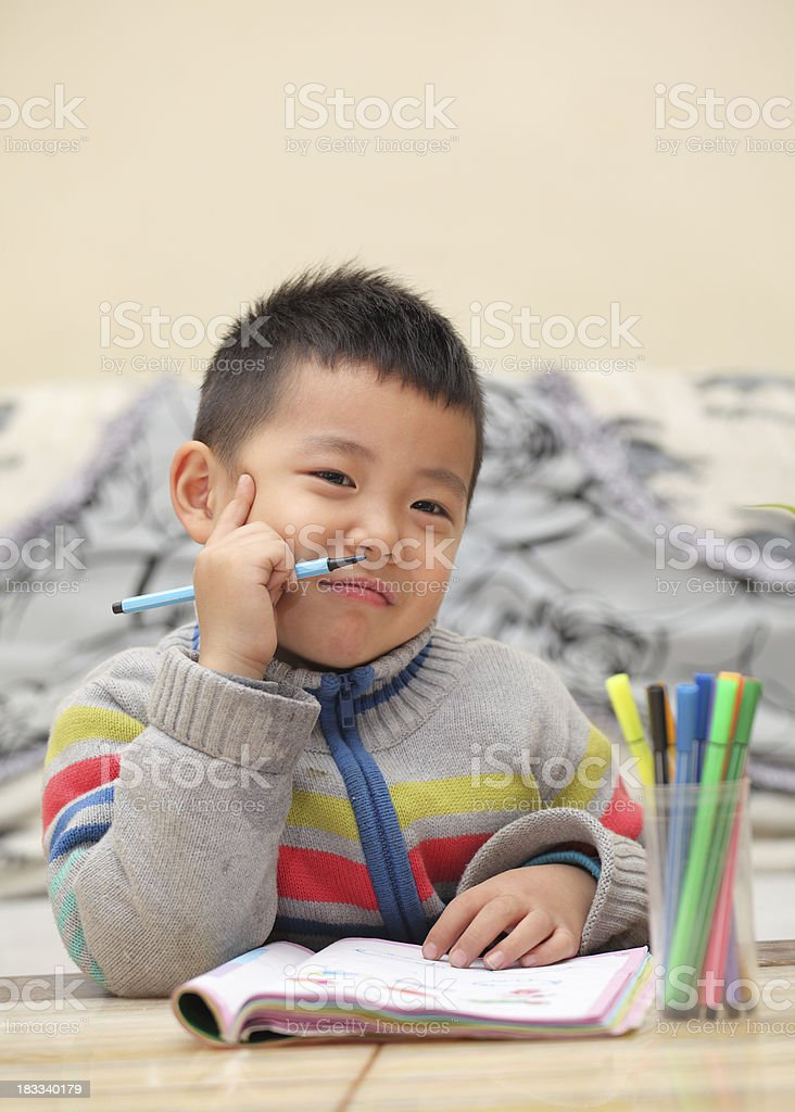 Child with learning difficulties royalty-free stock photo
