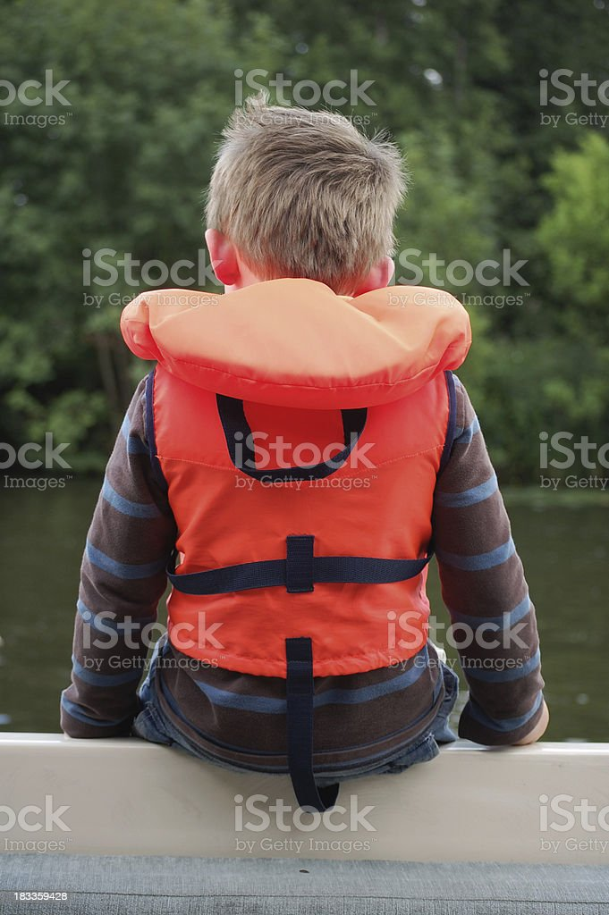 Child with lifejacket. royalty-free stock photo