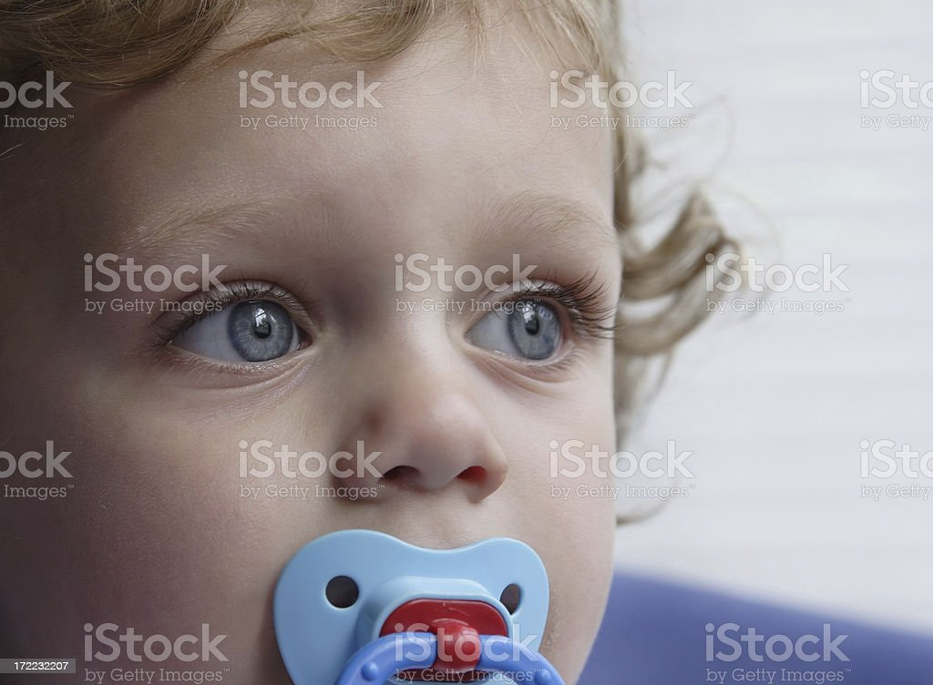 Child with Pacifier stock photo