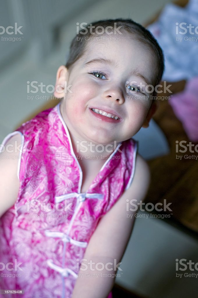 Child with short hair royalty-free stock photo
