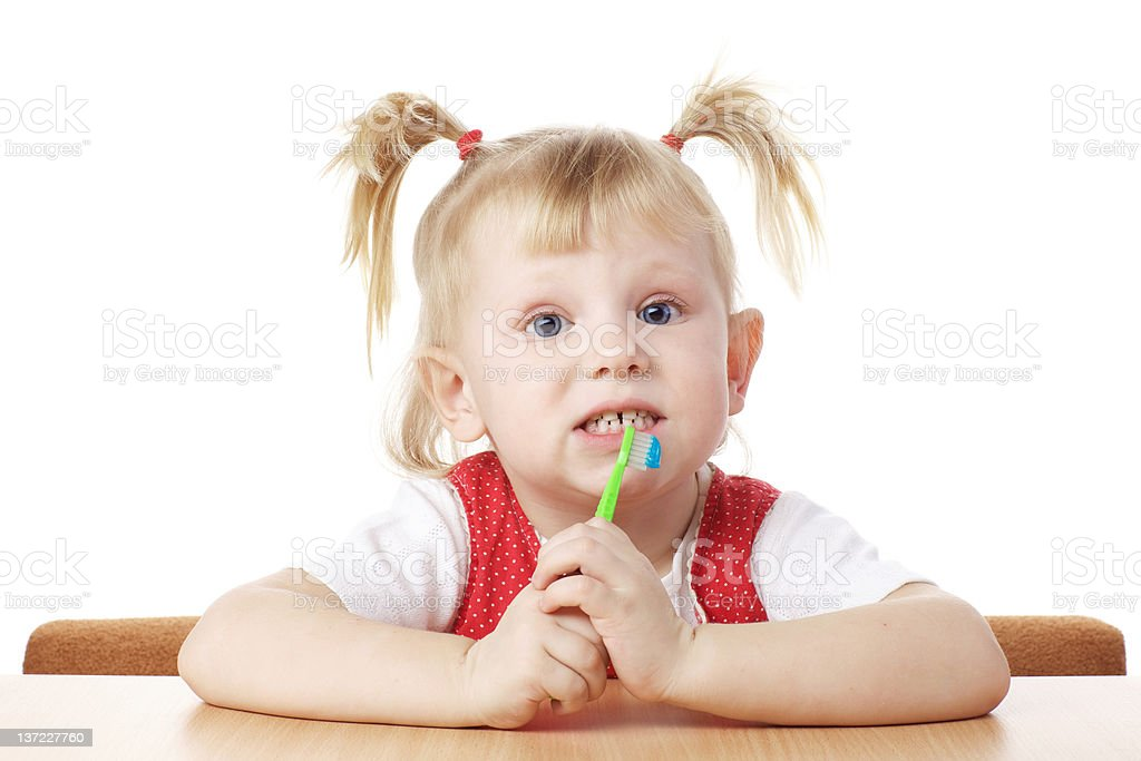 child with toothbrush royalty-free stock photo