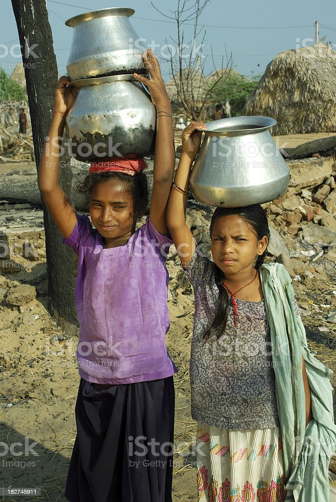 Child workers stock photo