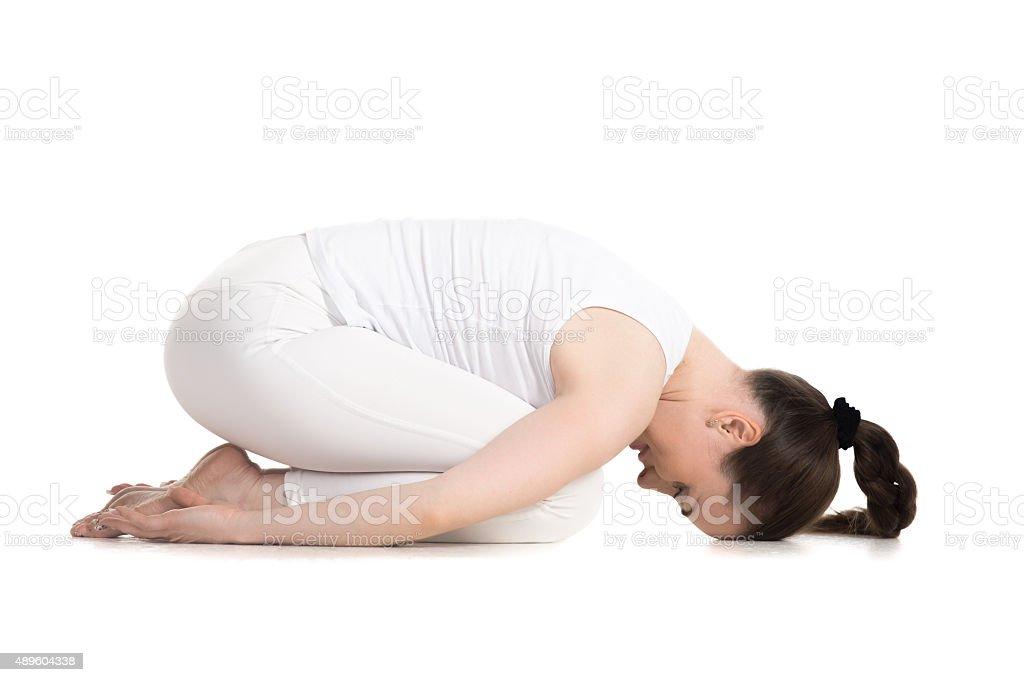 Child yoga Pose stock photo