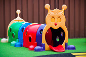 Childcare playground with colourful caterpillar