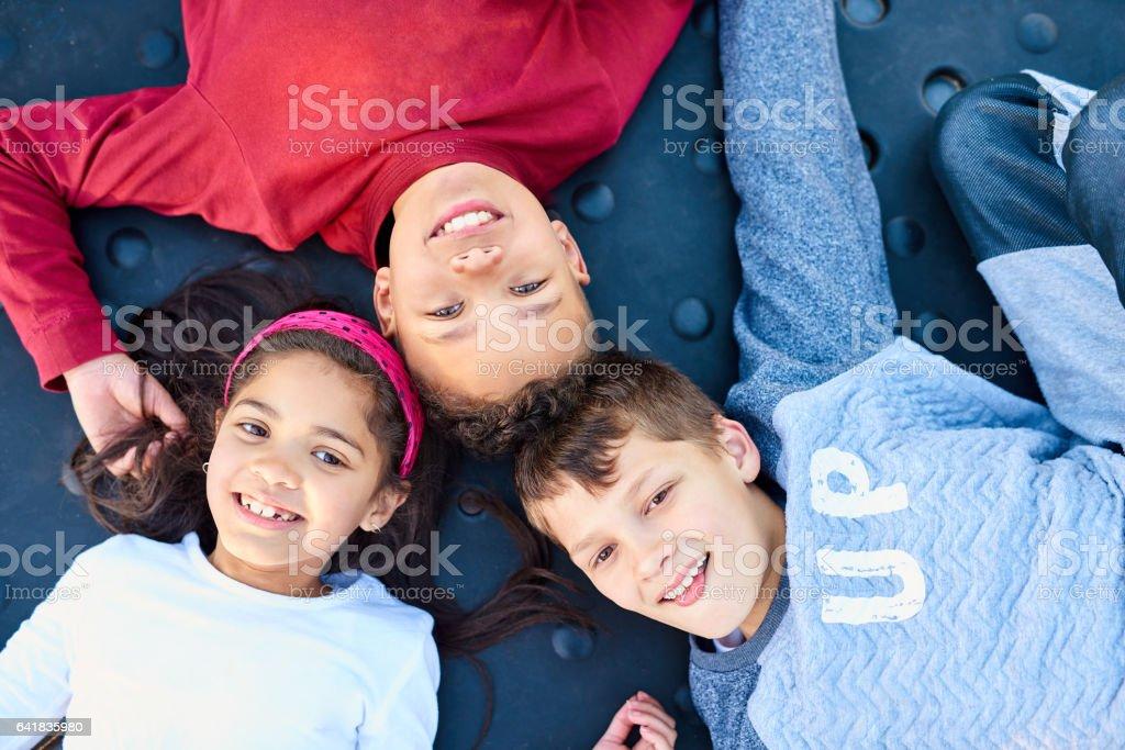 Childhood bliss stock photo