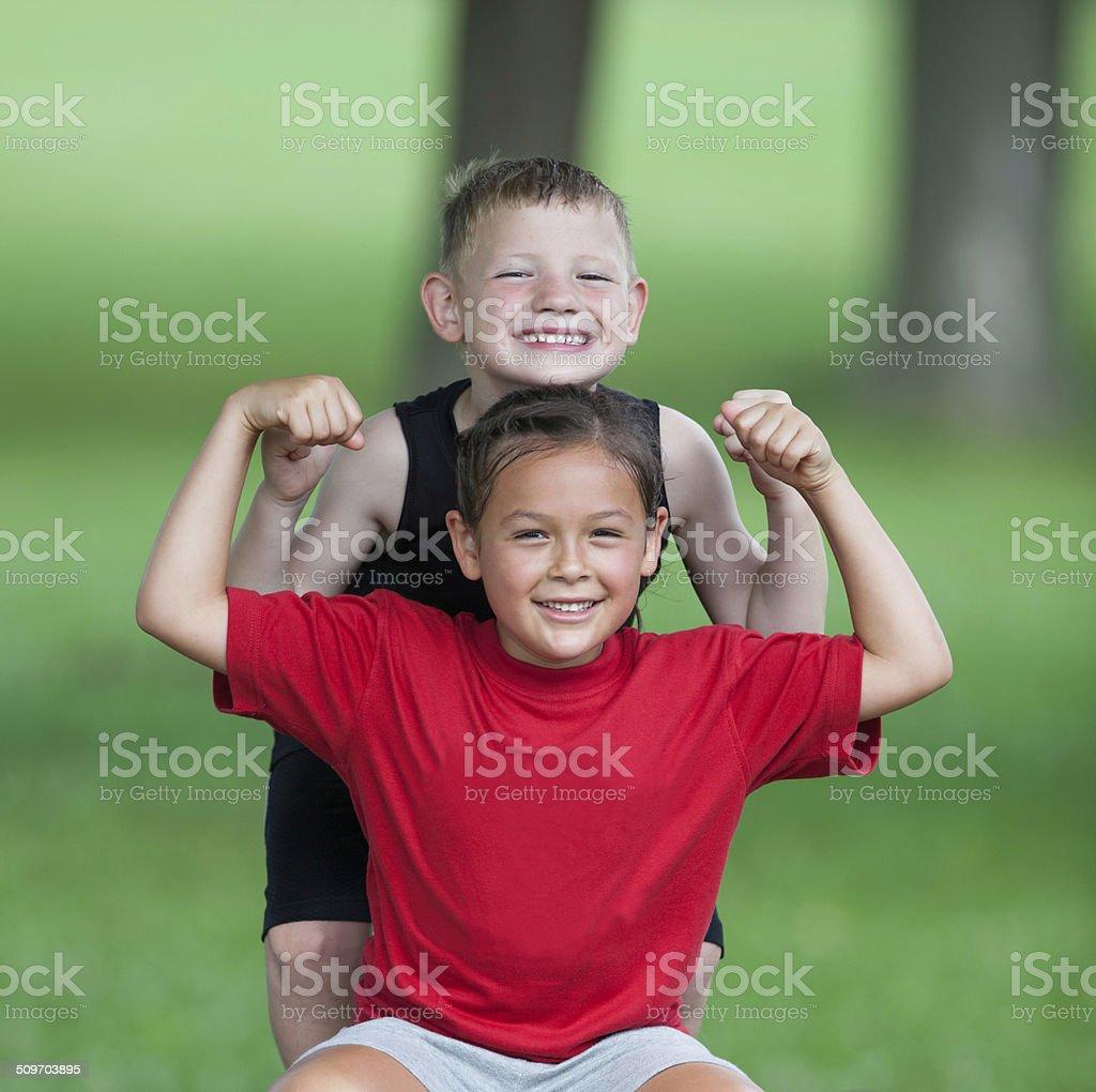 Childhood Fitness stock photo