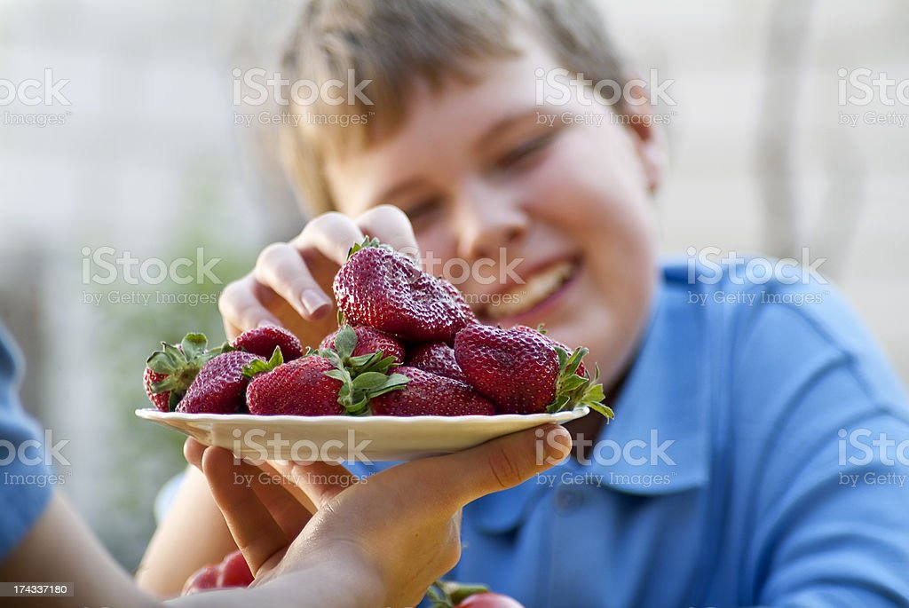Childhood Healthy Eating royalty-free stock photo